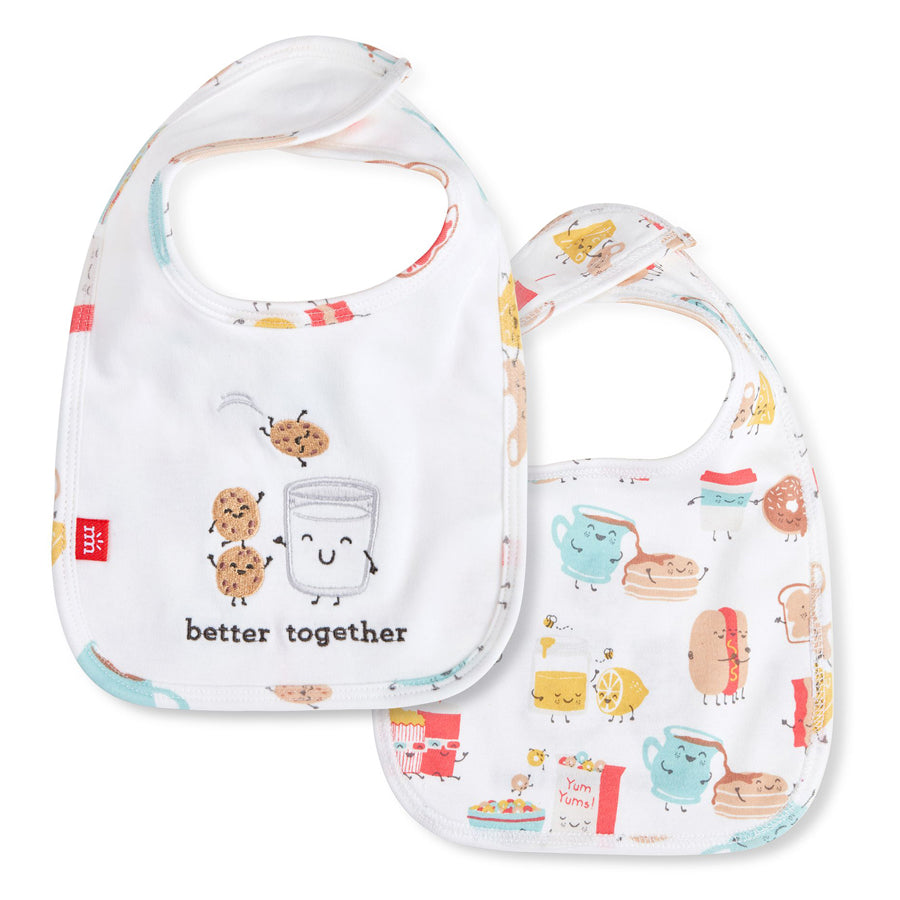 Better Together Organic Cotton Magnetic Reversible Bib-Magnetic Me-Joanna's Cuties