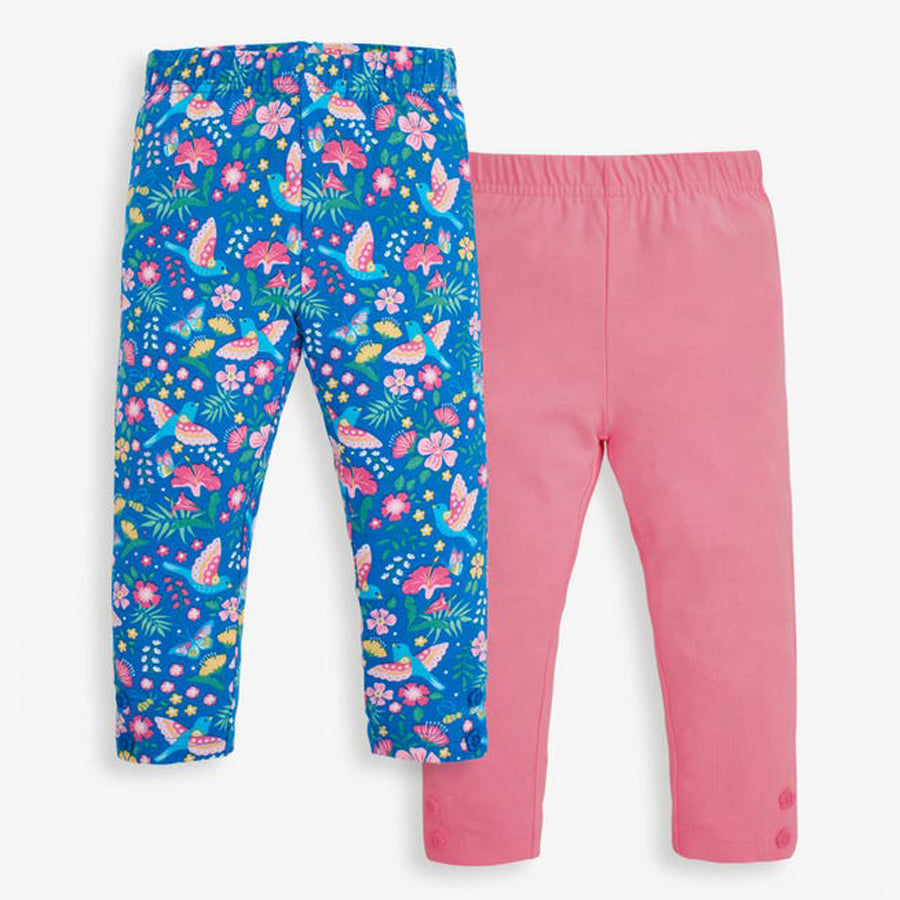 Bird Floral, Pink Leggings