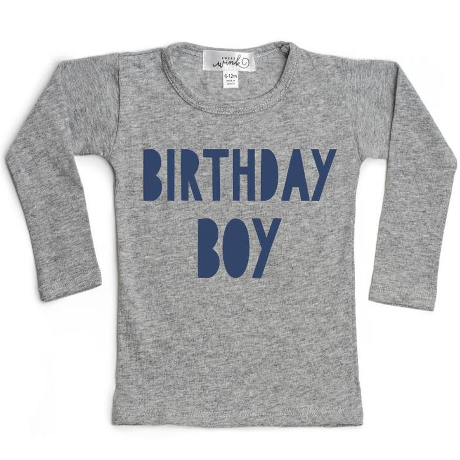 Birthday Boy Long Sleeve T-Shirt, Sweet Wink - Joanna's Cuties