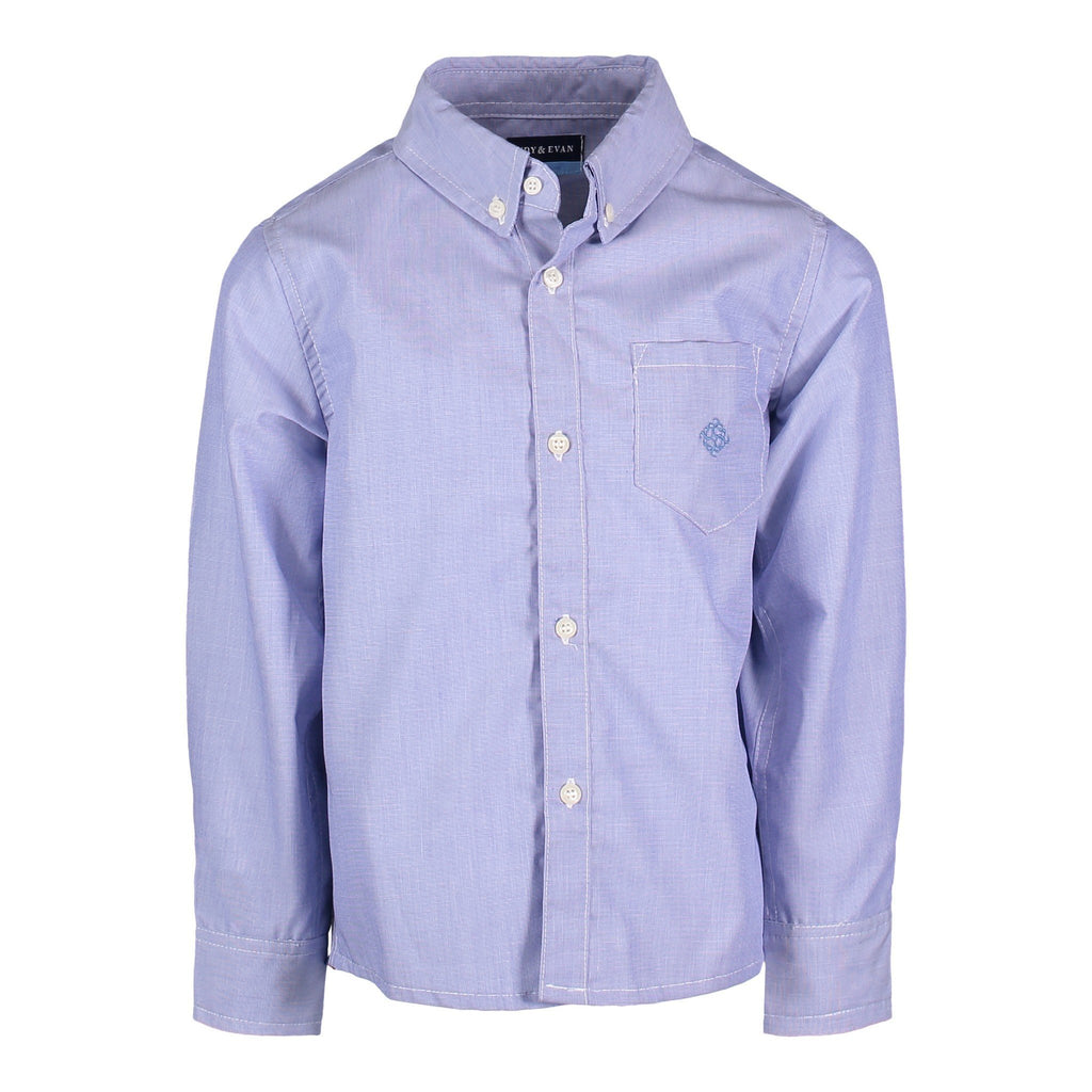 Blue Chambray Buttondown - Andy & Evan - joannas-cuties