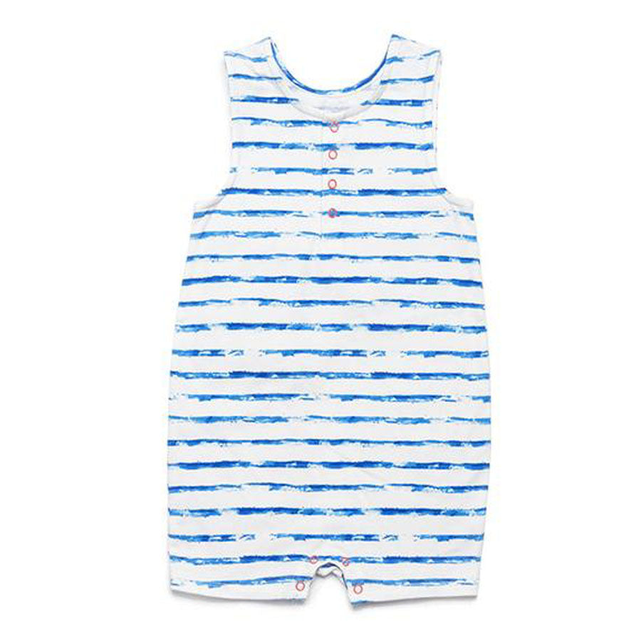 Blue Stripe Jeffrey Romper-EGG by Susan Lazar-Joanna's Cuties