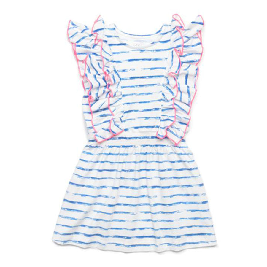 Blue Stripe Priscilla Dress-EGG by Susan Lazar-Joanna's Cuties