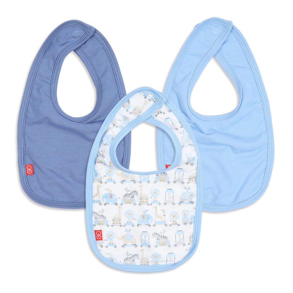 Blue Taj Express Modal Magnetic 3-Pack Bib-Magnetic Me-Joanna's Cuties