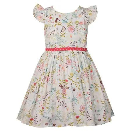 Botanical Ruffle Sleeve Dress, Bambiola - Joanna's Cuties
