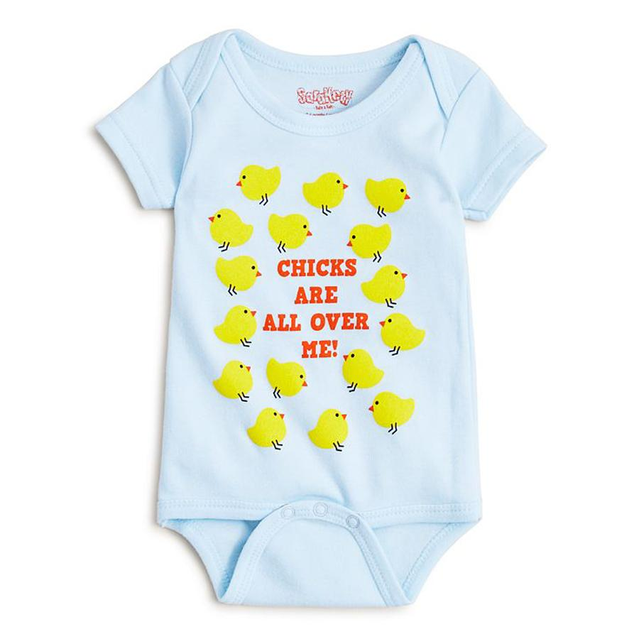 Boys' Chicks Are All Over Me Bodysuit - Baby-Sara Kety-Joanna's Cuties