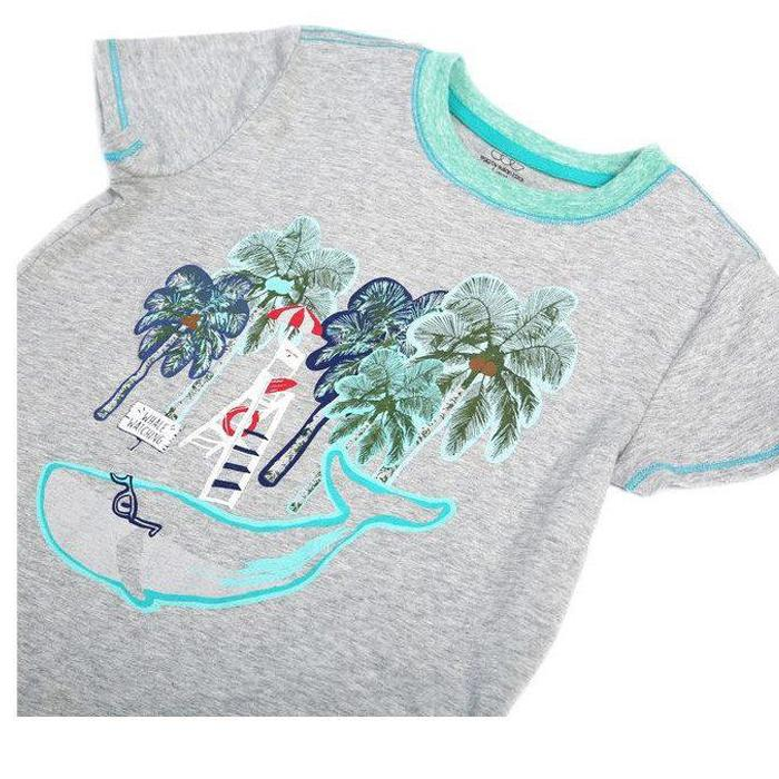 Boy's Roman Graphic Tee - Grey - EGG by Susan Lazar - joannas-cuties