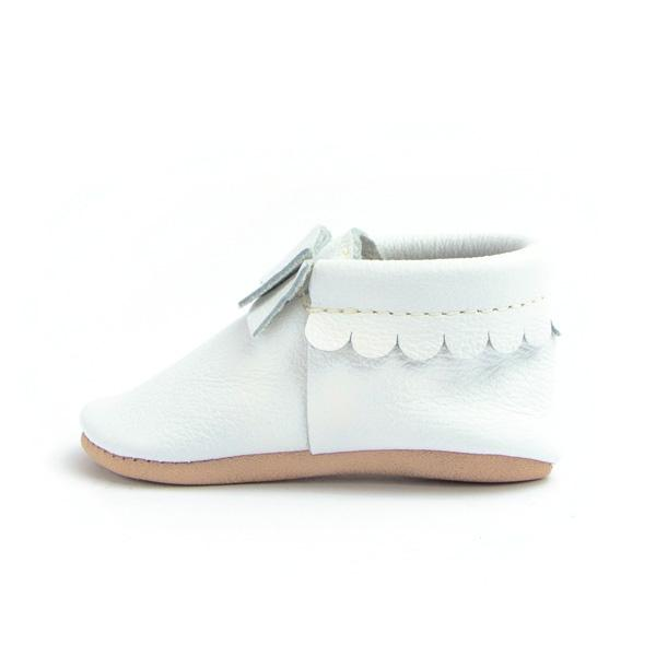 Bright White Bow Moccasins - Freshly Picked - joannas-cuties