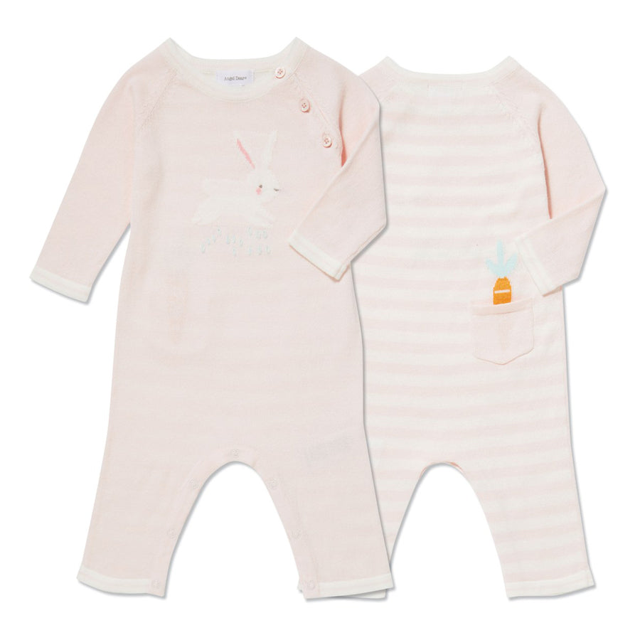 Bunny Intarsia Knits Pink Coverall-Angel Dear-Joanna's Cuties