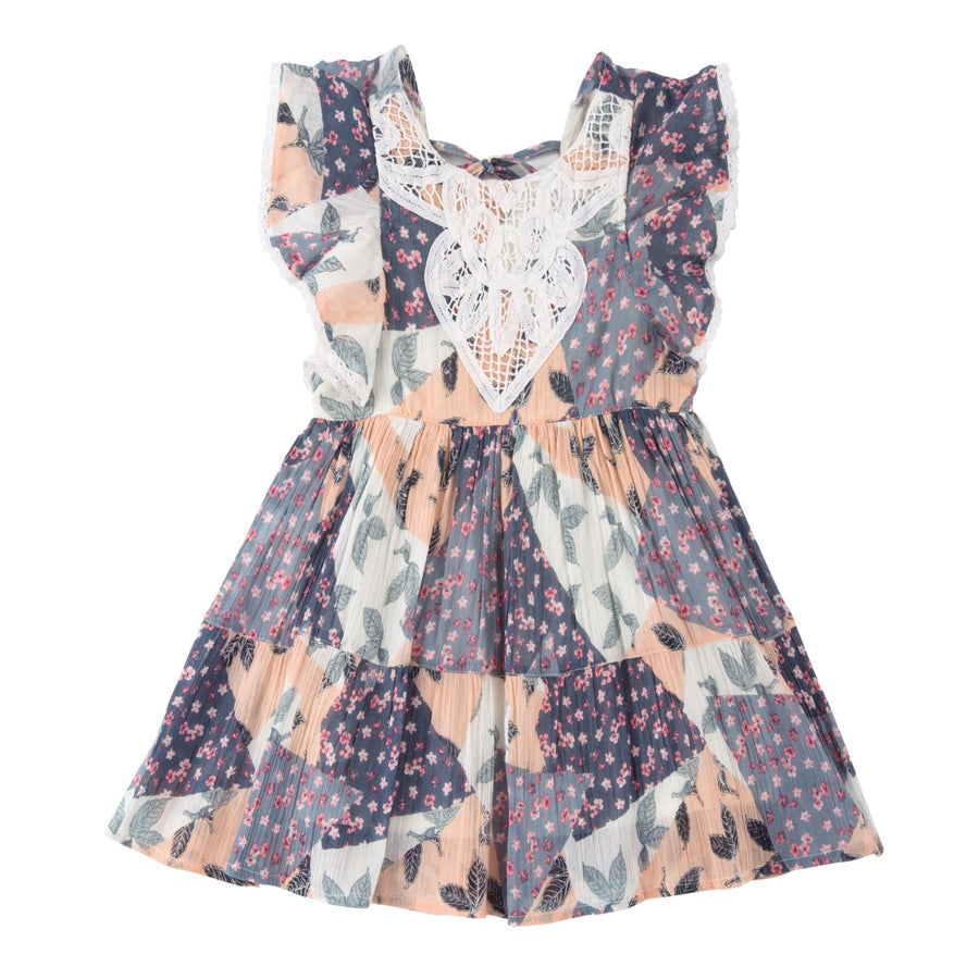 Butterfly Sleeve Dress - Mimi & Maggie - joannas-cuties