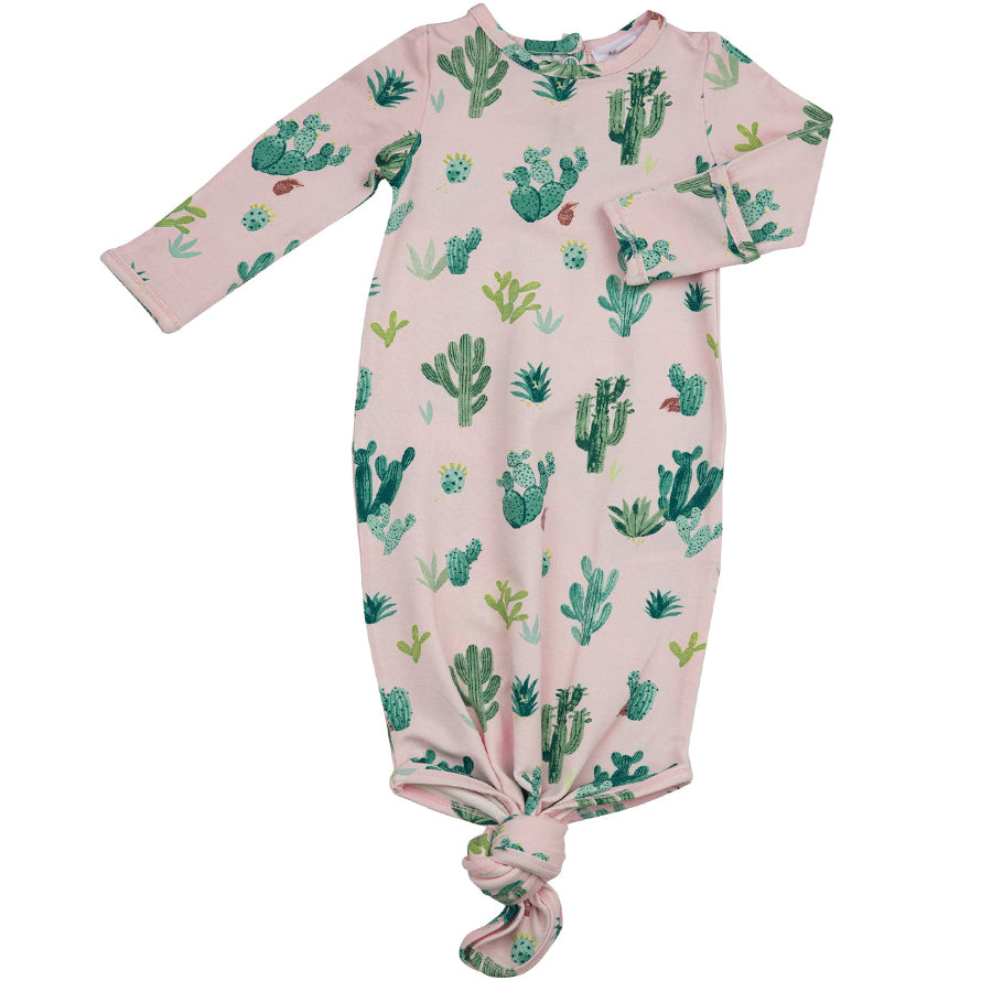 Cactus Knotted Gown Pink-Angel Dear-Joanna's Cuties