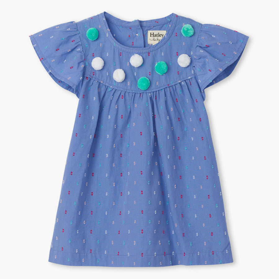 Candied Swiss Dots Baby Flutter Sleeve Dress-Hatley-Joanna's Cuties