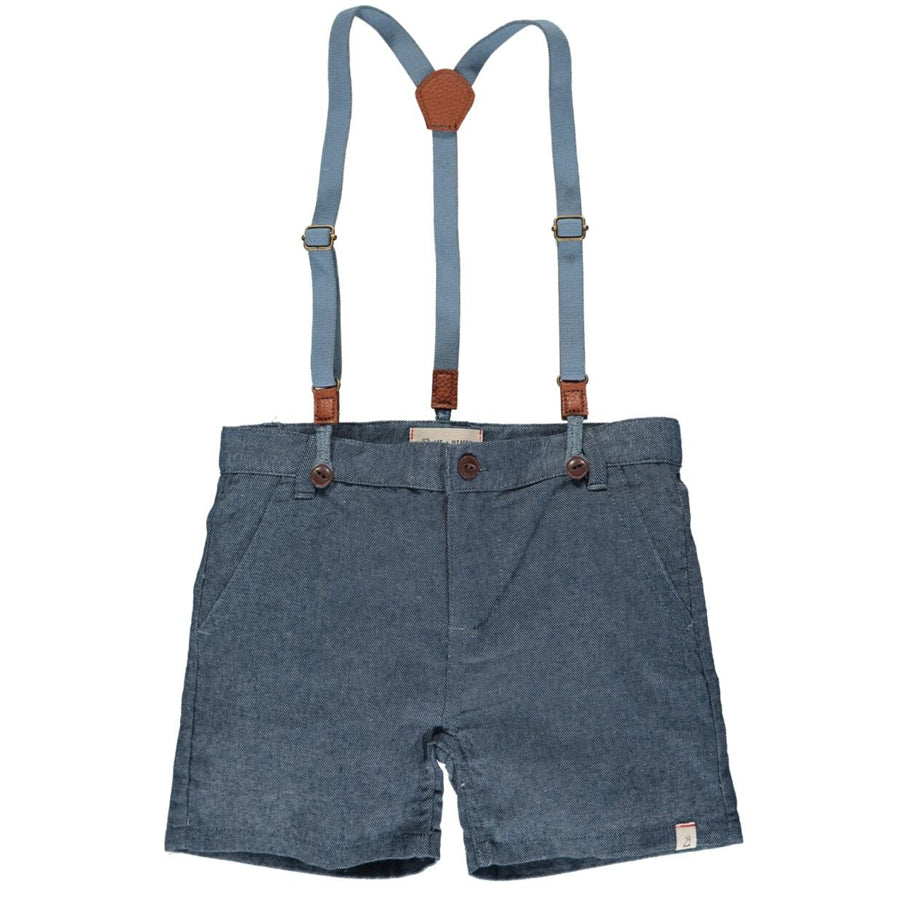 Captain Shorts With Suspenders - Navy-Me + Henry-Joanna's Cuties