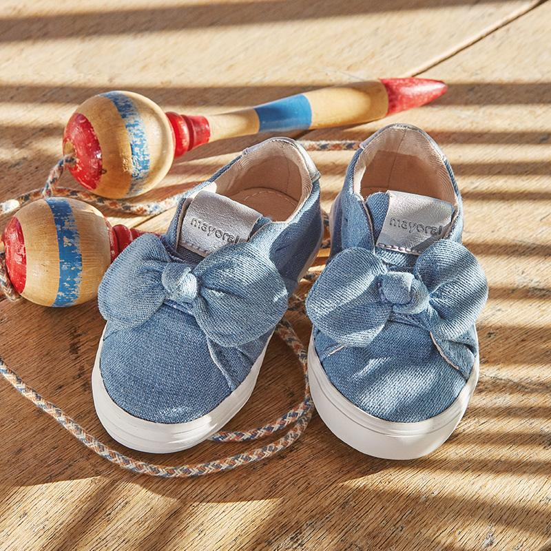 Casual bow trainers for baby girl, Mayoral - Joanna's Cuties