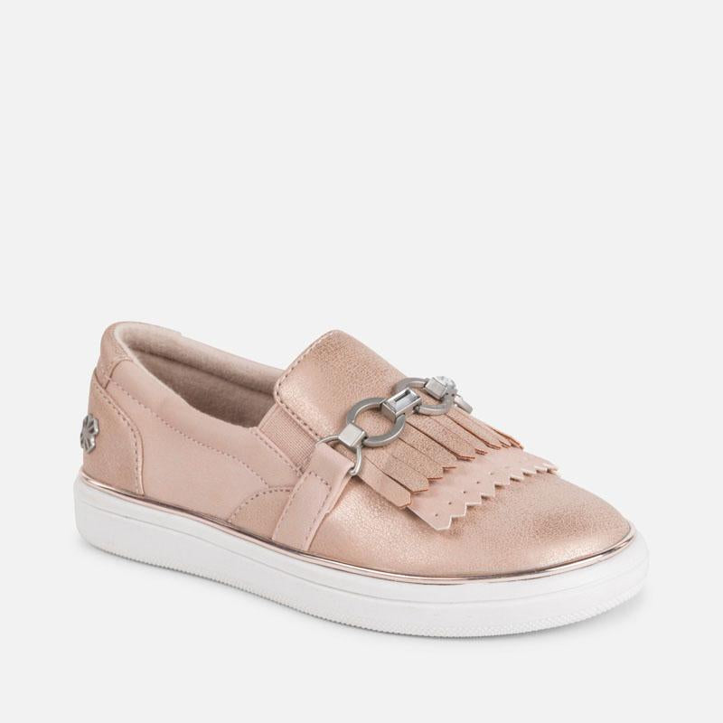 Casual fringed trainers for girl - Mayoral - joannas-cuties