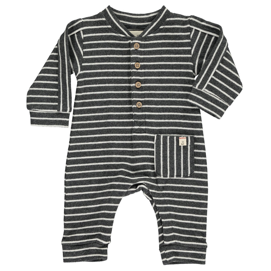 Charcoal/White Romper-Me + Henry-Joanna's Cuties