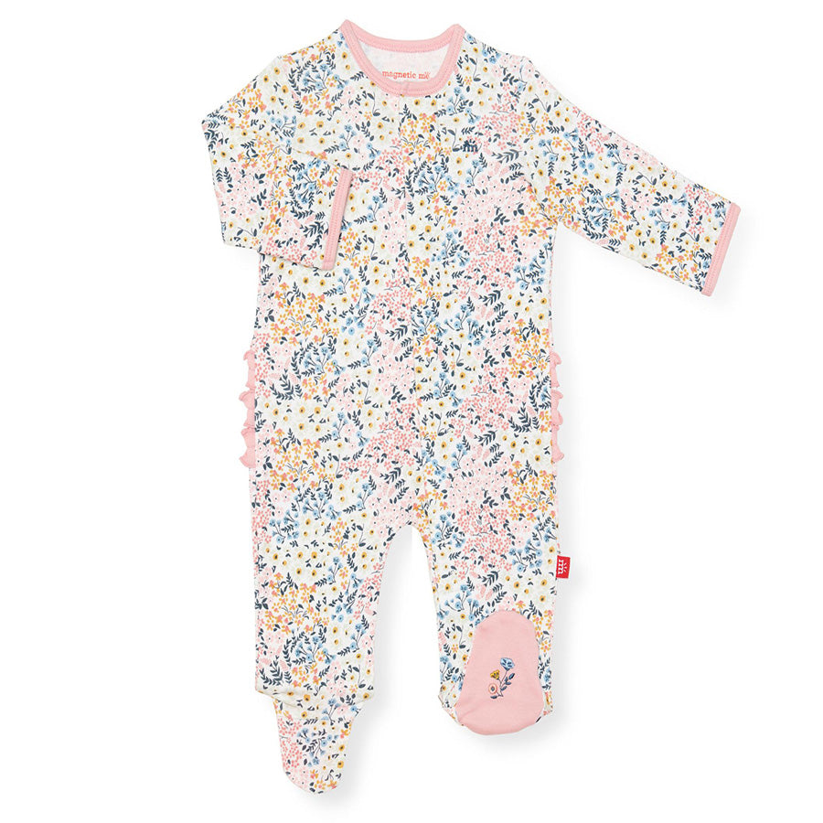 Chelsea Organic Cotton Magnetic Footie-Magnetic Me-Joanna's Cuties