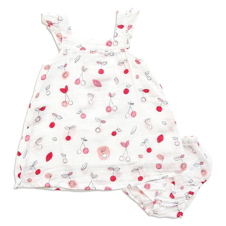 Cherry O - Muslin Sundress & Bloomer - Angel Dear - joannas-cuties