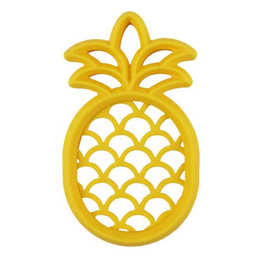 Chew Crew Silicone Baby Teether - Pineapple-Itzy Ritzy-Joanna's Cuties