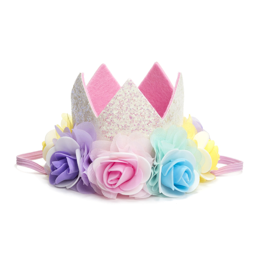 Chiffon Flower Crown - Headband, Sweet Wink - Joanna's Cuties
