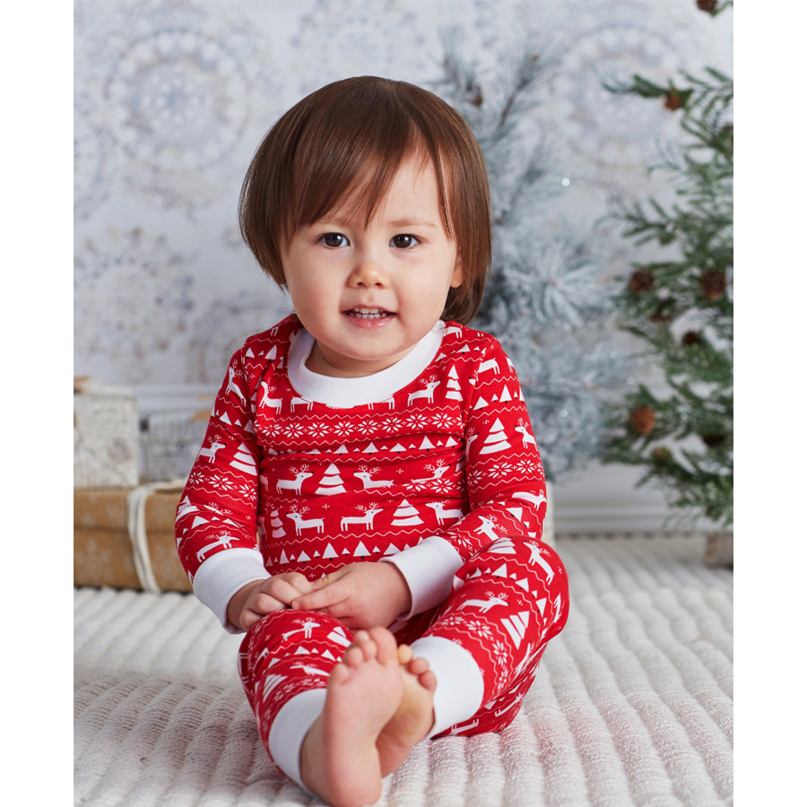 Christmas Deer Pajama Set - Kissy Kissy - joannas-cuties