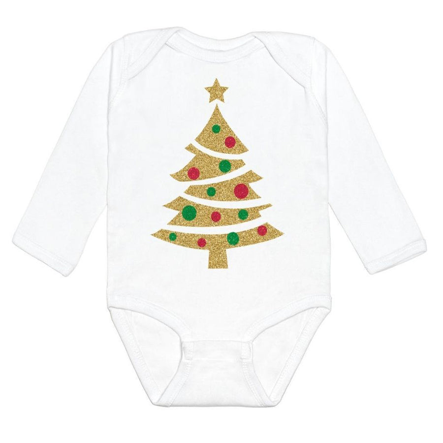 Christmas Tree L/S Bodysuit-Sweet Wink-Joanna's Cuties