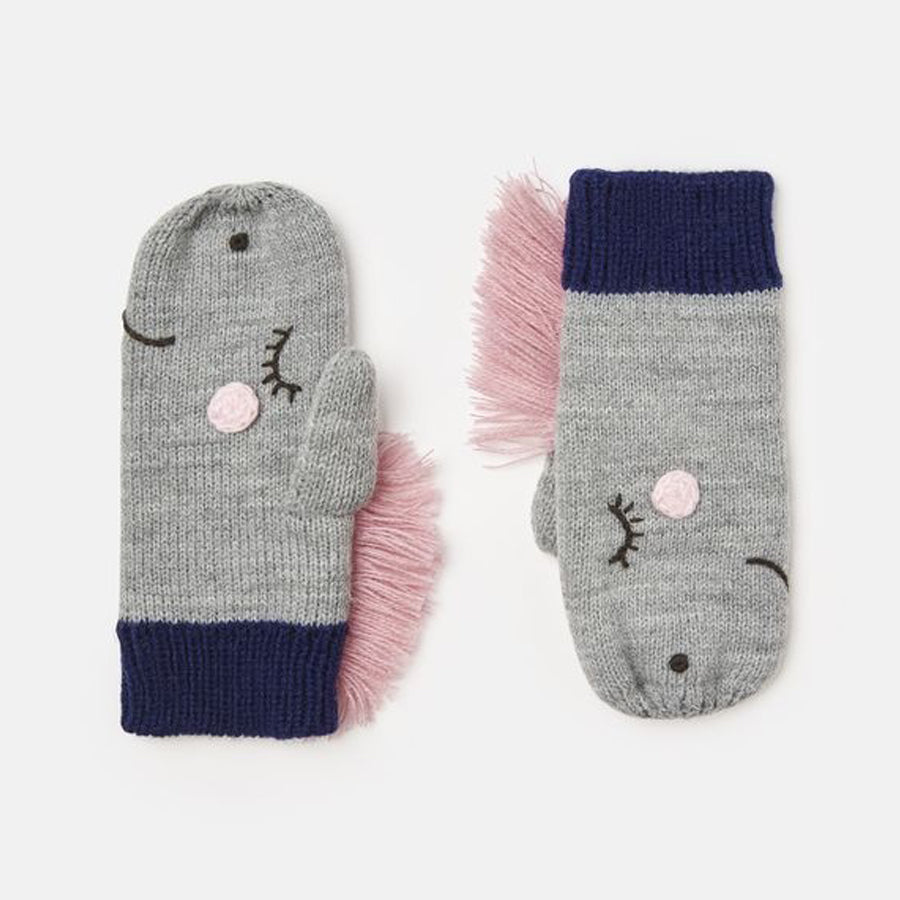 Chummy Knitted Horse Mittens - Joules - joannas-cuties