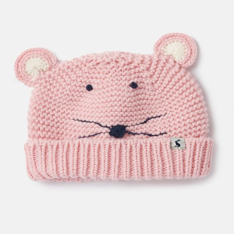 Chummy Knitted Character Hat - Mouse - Joules - joannas-cuties