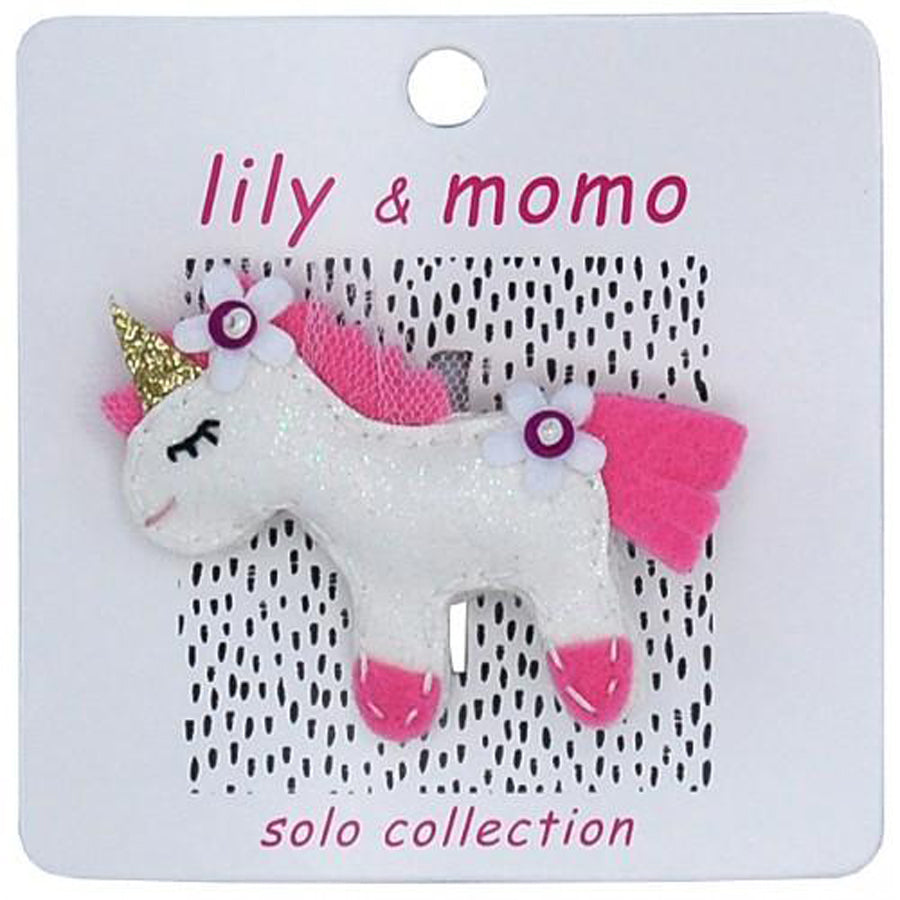 Come Fly With Me Unicorn - Hair Clip-Lily & Momo-Joanna's Cuties