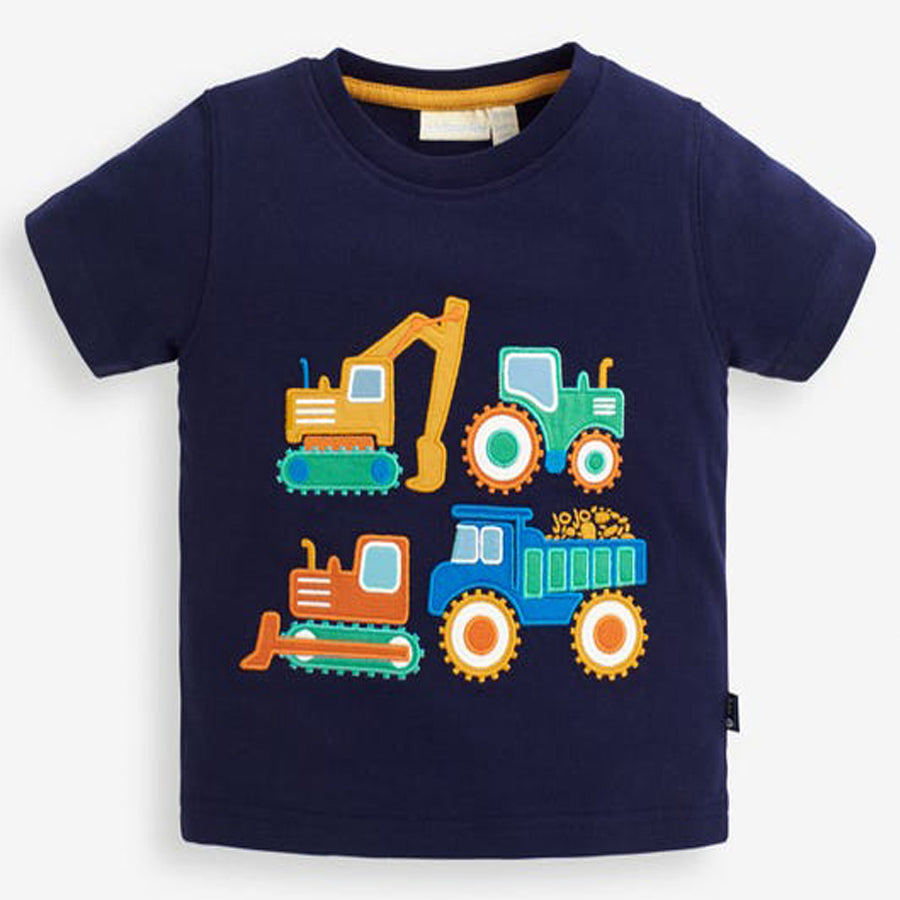 Construction Truck Applique T-Shirt