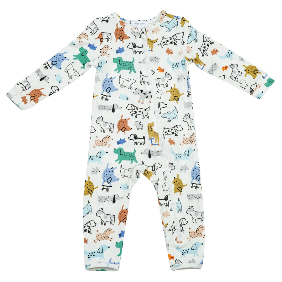 Cool Pups Zipper Romper-Angel Dear-Joanna's Cuties
