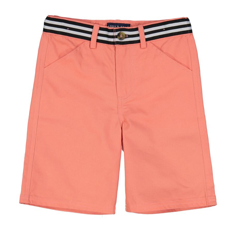 Coral Belted Short - Andy & Evan - joannas-cuties