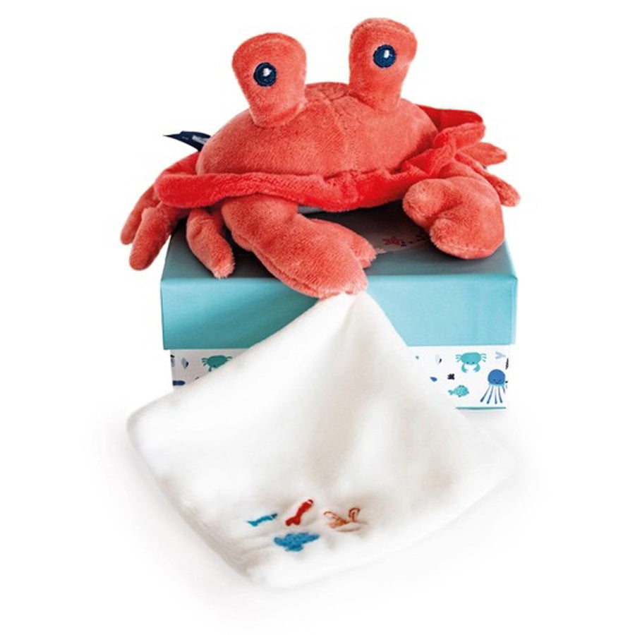 Under the Sea: Coral Crab Plush With Blanket-Doudou Et Compagnie-Joanna's Cuties