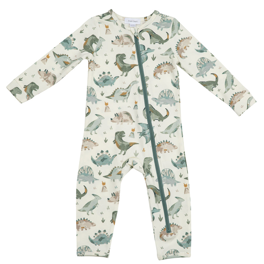 Crayon Dinosaur Zipper Romper-Angel Dear-Joanna's Cuties