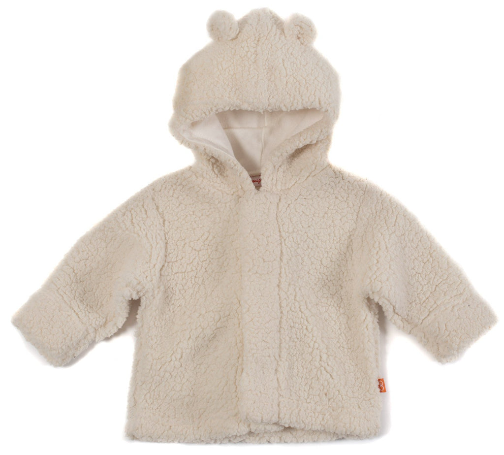 Cream Fleece Magnetic Hooded Jacket - Magnetic Me - joannas-cuties