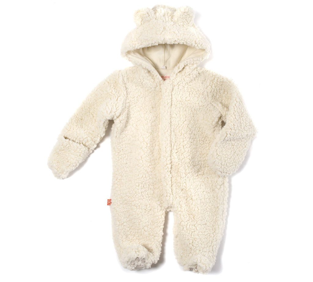 Cream Fleece Magnetic Snowsuit Bunting Pram - Magnetic Me - joannas-cuties