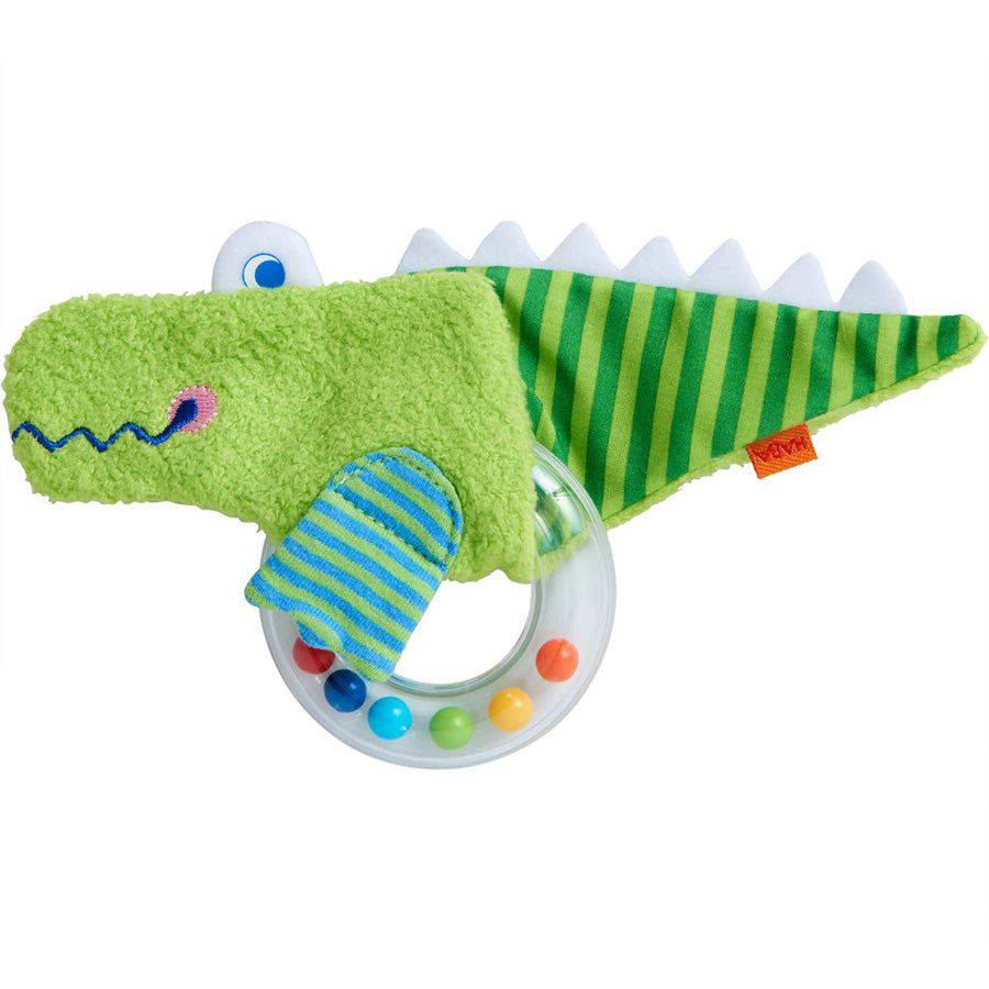 Crocodile Rattle Clutching Toy-Haba-Joanna's Cuties