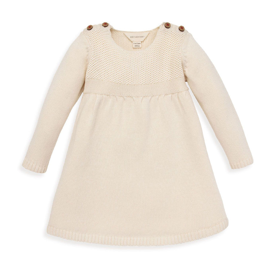 Cross Knit Organic Baby Holiday Sweater Dress - Burt's Bees Baby - joannas-cuties
