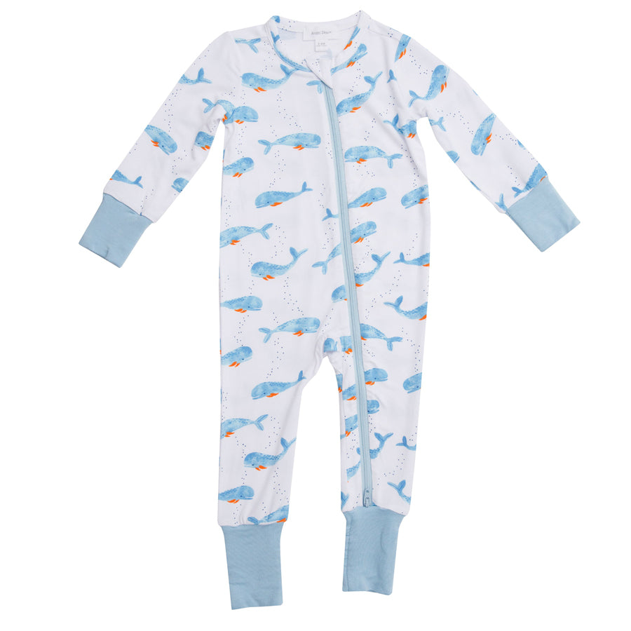 Cutey Whale Zipper Romper