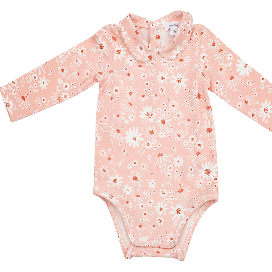 Daisy Chain Peter Pan Collar Bodysuit With Picot-Angel Dear-Joanna's Cuties
