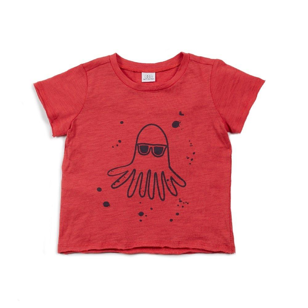 Damian Graphic Tee In Brick - EGG by Susan Lazar - joannas-cuties
