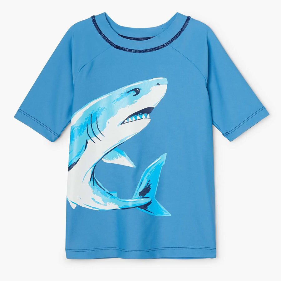 Deep Sea Shark Short Sleeve Rashguard-Hatley-Joanna's Cuties