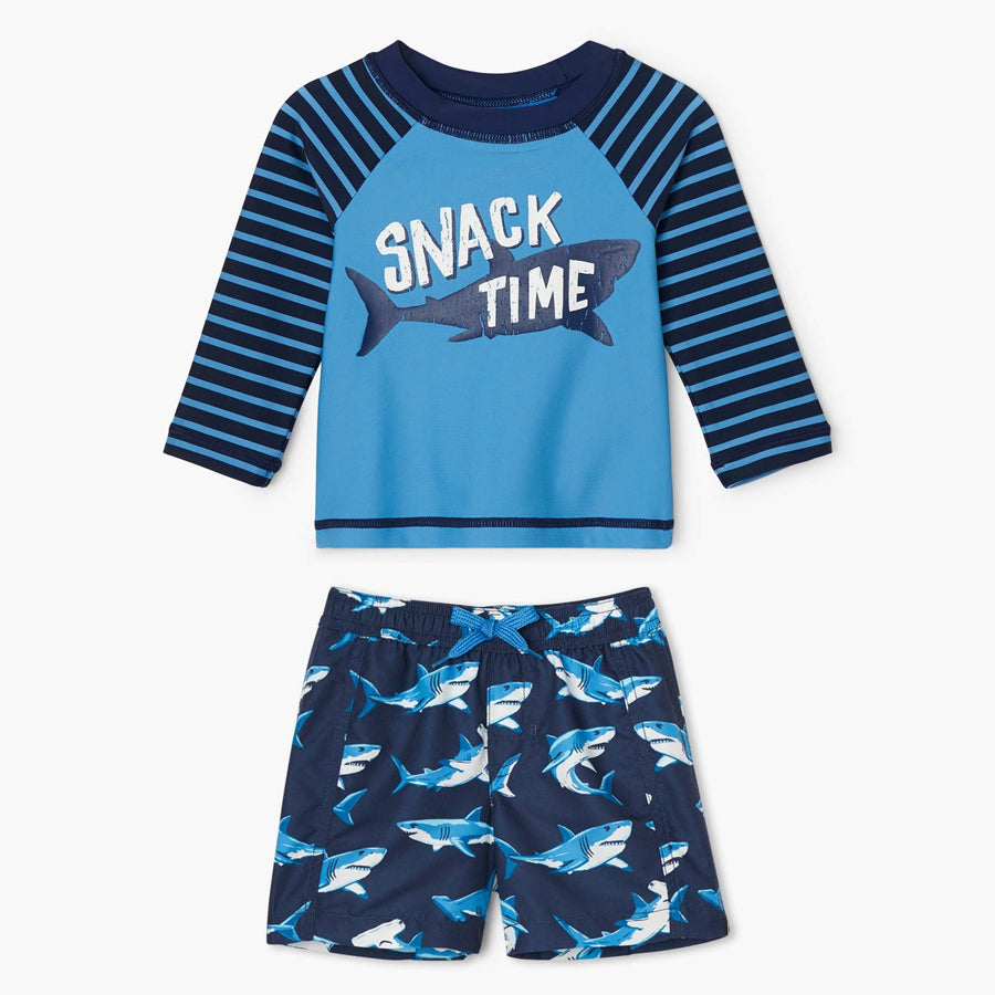 Deep-Sea Sharks Baby Rashguard Set-Hatley-Joanna's Cuties