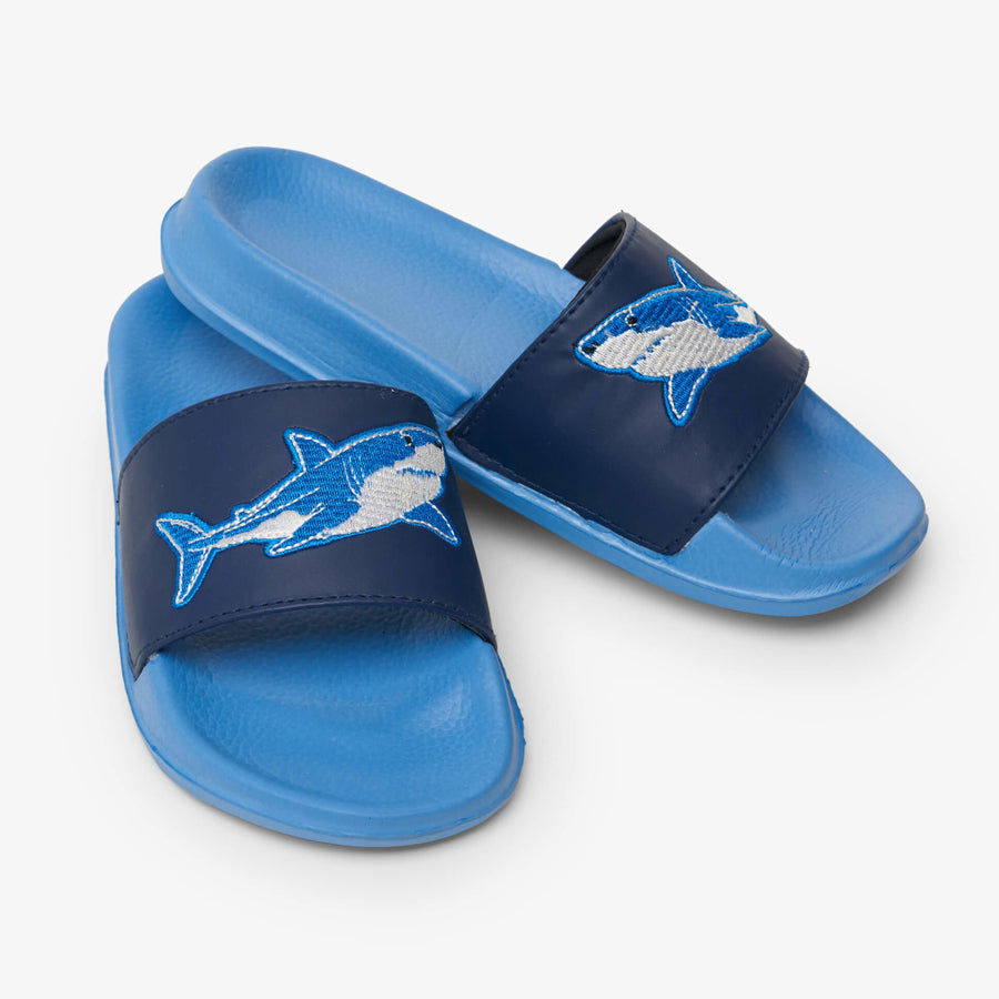 Deep-Sea Sharks Slide On Sandals-Hatley-Joanna's Cuties