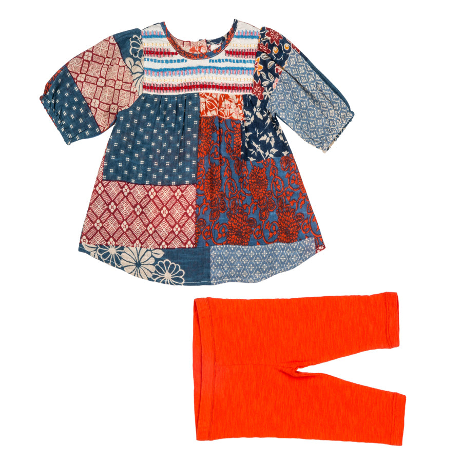 Delliah Embroidered Dress + Leggings - Mimi & Maggie - joannas-cuties