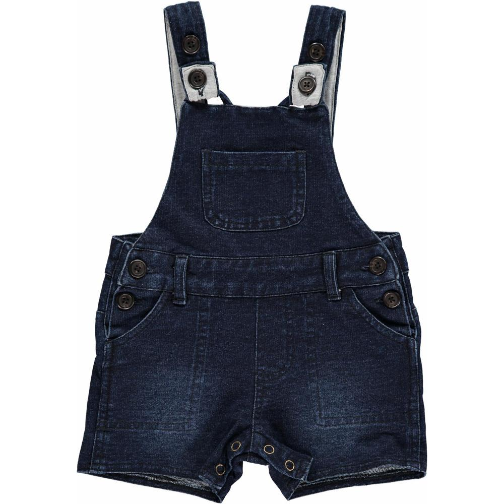 Denim Effect Shortie Overall - Me + Henry - joannas-cuties