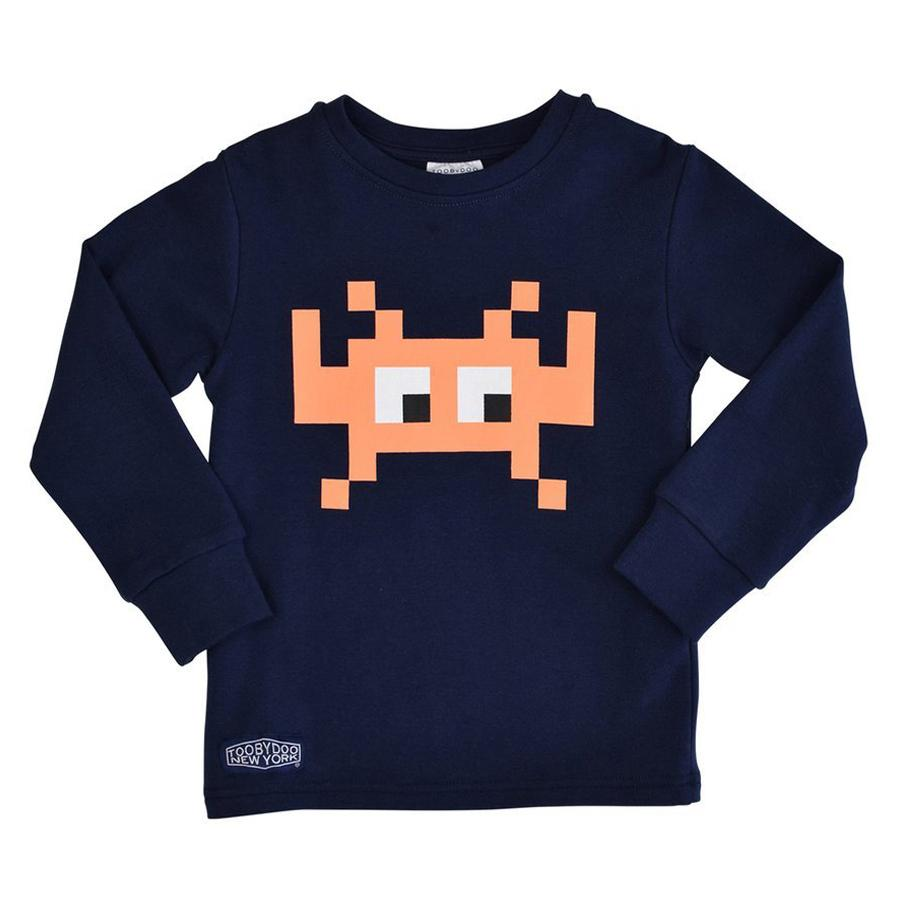 Digi Monster Orange | Long Sleeve T-Shirt-Toobydoo-Joanna's Cuties