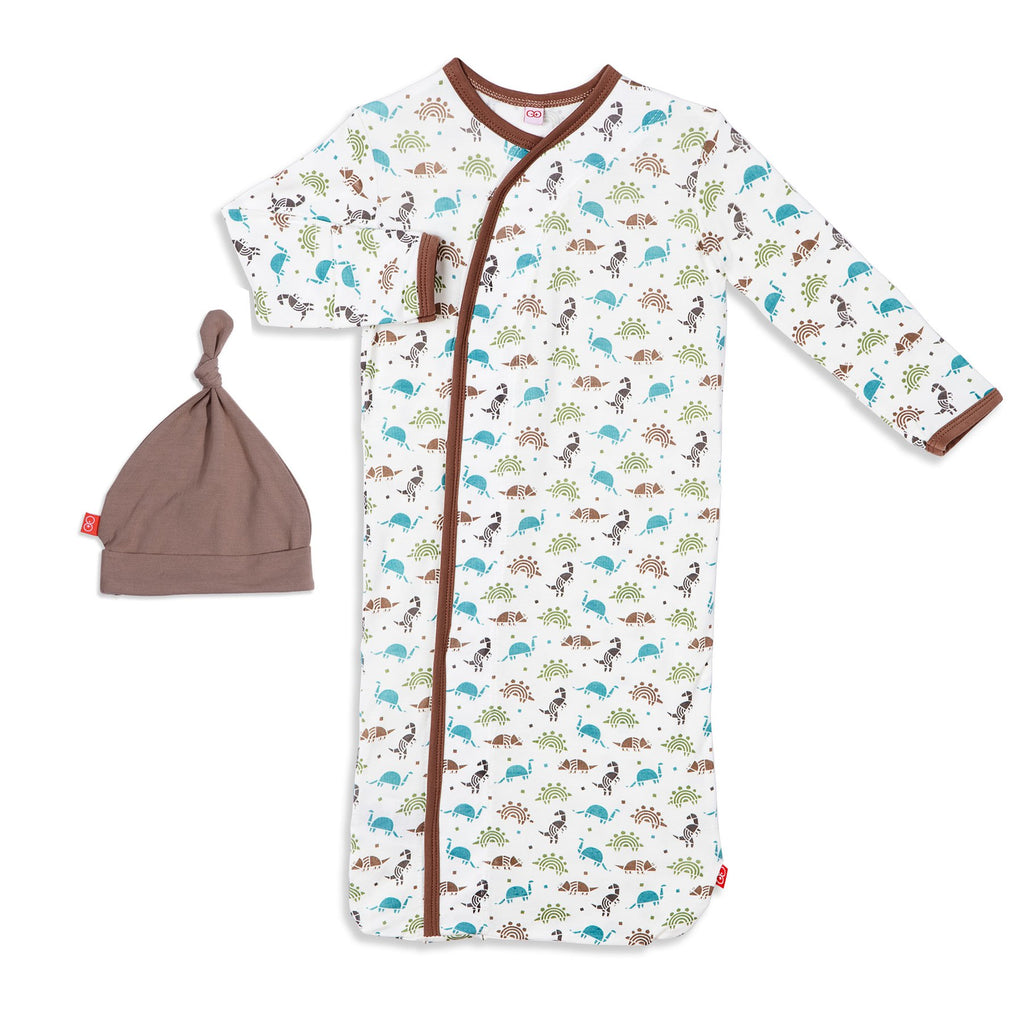 Dinogami Modal Magnetic Sack Gown & Hat Set - Magnetic Me - joannas-cuties