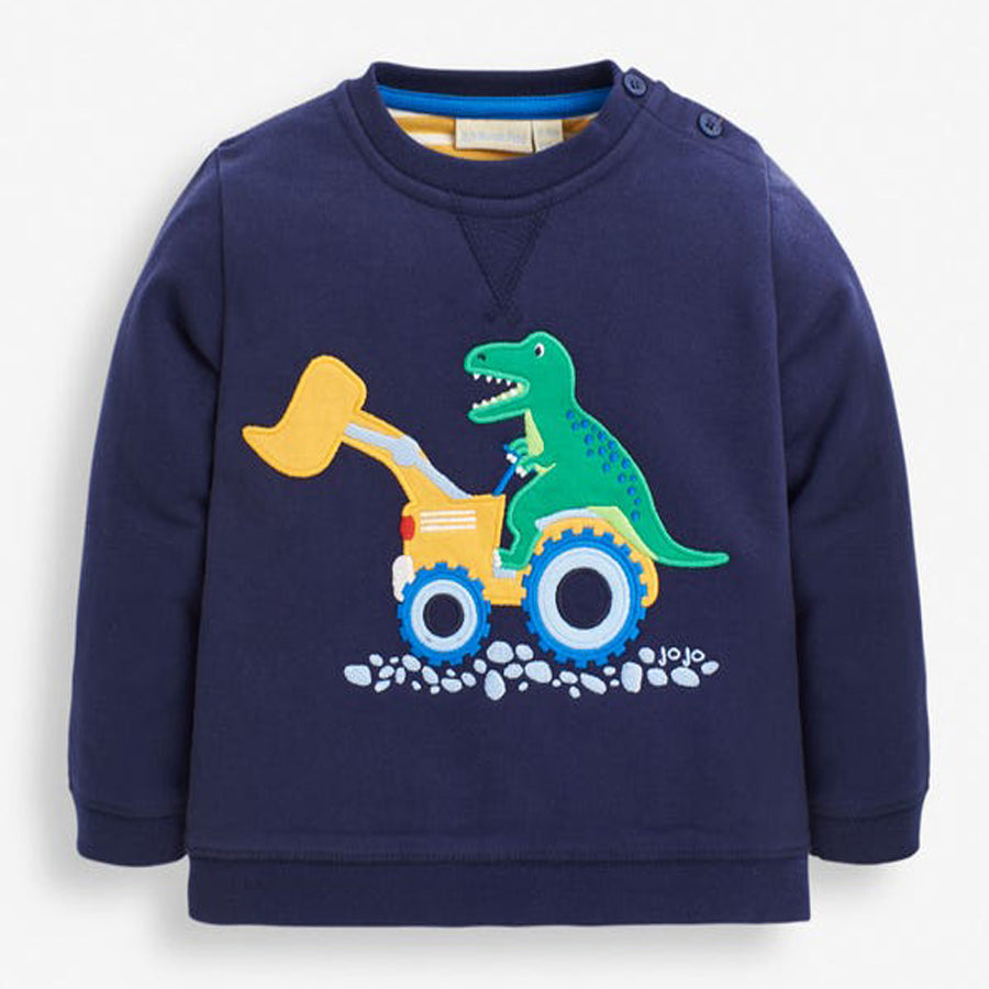 Dinosaur & Digger Applique Sweatshirt