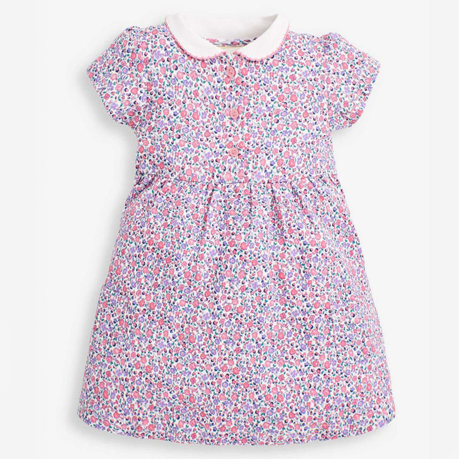 Ditsy Peter Pan Collar Dress-JoJo Maman Bebe-Joanna's Cuties