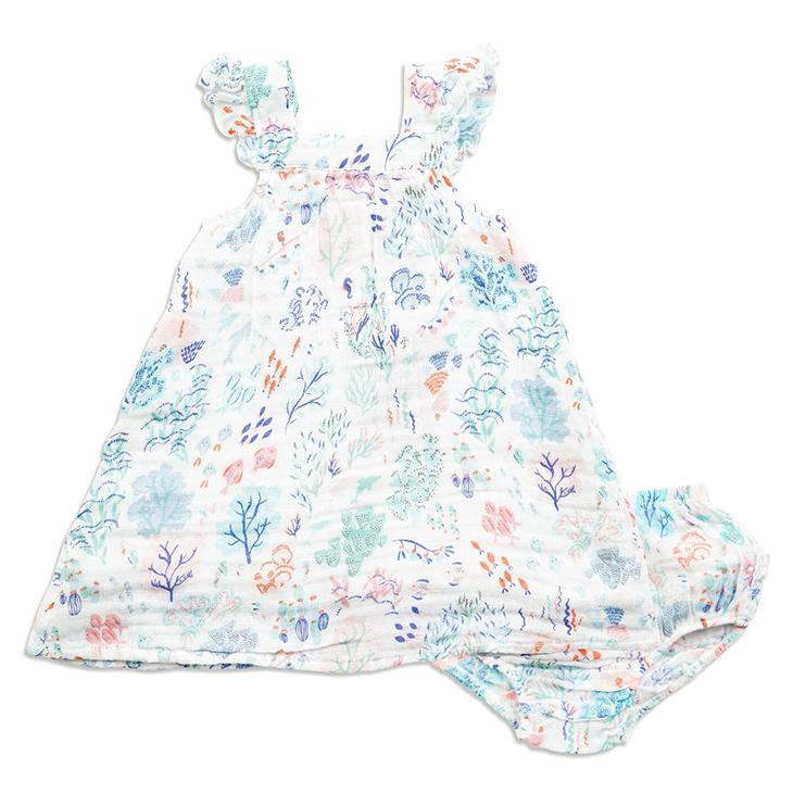 Ditsy Seaworld Muslin Sundress & D.C. - Angel Dear - joannas-cuties